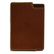 DTR - bao da mộc BlackBerry Passport dạng cầm tay vuông ngang màu nâu
