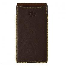 DTR - Bao da mộc BlackBerry Priv dạng cầm tay vuông màu nâu đất