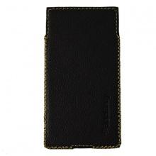 DTR - Bao da mộc BlackBerry Priv dạng cầm tay vuông màu đen