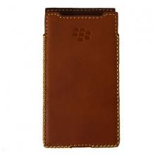 DTR - Bao da mộc BlackBerry Priv dạng cầm tay vuông màu nâu
