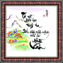 Tranh thư pháp chữ Ta Về V51-35 - Thế giới tranh đẹp