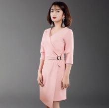 Wraparound Dress EV0058 - (Màu Hồng)