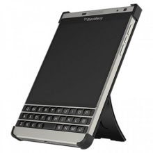 Ốp lưng - Leather flex shell BlackBerry PassPort Silver black fullbox