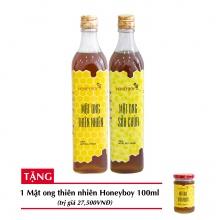 Combo mật ong thiên nhiên Honeyboy 500ml + Mật ong sữa chúa Honeyboy 500ml + Tặng mật ong thiên nhiên Honeyboy 100ml trị giá 29,000VNĐ