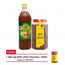 Combo mật ong thiên nhiên Honeyboy 1kg + Mật ong thô Honeyboy 1000ml + Tặng mật ong thiên nhiên Honeyboy 100ml