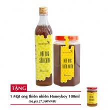 Combo mật ong thiên nhiên Honeyboy 1kg + Mật ong sữa chúa Honeyboy 500ml + Tặng mật ong thiên nhiên Honeyboy 100ml trị giá 29,000VNĐ