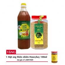 Combo mật ong thô Honeyboy 1000ml + Phấn hoa thiên nhiên Honeyboy 500g+ Tặng mật ong thiên nhiên Honeyboy 100ml trị giá 29,000VNĐ