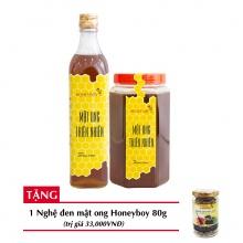 Combo mật ong thiên nhiên Honeyboy 500ml + Mật ong thiên nhiên Honeyboy 1kg + Tặng nghệ đen mật ong Honeyboy 80g trị giá 36,000VNĐ