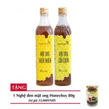 Combo mật ong thiên nhiên Honeyboy 500ml + Mật ong sữa chúa Honeyboy 500ml + Tặng nghệ đen mật ong Honeyboy 80g trị giá 36,000VNĐ