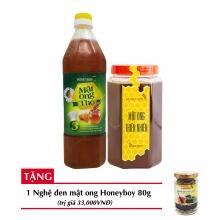 Combo mật ong thiên nhiên Honeyboy 1kg + mật ong thô Honeyboy 1000ml + Tặng nghệ đen mật ong Honeyboy 80g trị giá 36,000VNĐ