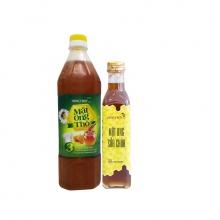Combo mật ong thô Honeyboy 1000ml + Mật ong sữa chúa Honeyboy 250mm