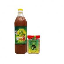Combo mật ong thô Honeyboy 1000ml + Phấn hoa thiên nhiên Honeyboy 250g