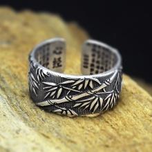 Nhẫn bạc Thái cho nam size mở Hadosa