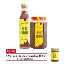 Combo mật ong thiên nhiên Honeyboy 1kg + Mật ong sữa chúa Honeyboy 250ml + Tặng mật ong sữa chúa Honeyboy 100ml