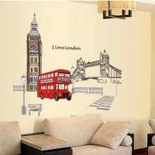 Decal dán tường xe bus London PK479