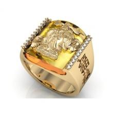 Nhẫn thần tài mạ vàng 14k - NNAM318