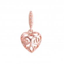 Hạt charm DIY PNJSilver hình trái tim 0000K060135