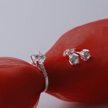 Set nhẫn và hoa tai bạc và đính đá Ross Opal sis_09