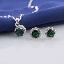 Set mặt kèm dây và hoa tai bạc đính đá Ross Opal sis_51