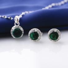 Set mặt kèm dây và hoa tai bạc đính đá Ross Opal sis_52
