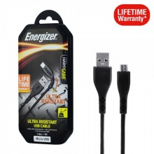 Cáp Micro-USB Energizer 1.2m siêu bền bảo hành trọn đời - C41UBMCGBKM (Đen)