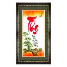 Tranh khung thư pháp chữ Thọ TPT_40-12 - Thế giới tranh đẹp