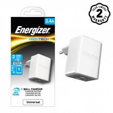 Sạc Energizer 2.4A 2 cổng USB - Trắng