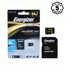 Thẻ nhớ micro SDXC 64GB Energizer Class10 UHS-I - 80MB/s