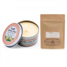 Combo nến thơm tinh dầu ngọc lan hộp thiếc và bột yến mạch Ecolife