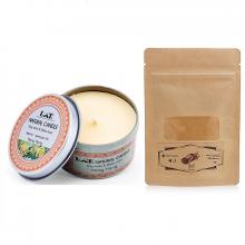 Combo nến thơm tinh dầu ngọc lan hộp thiếc và bột quế Ecolife