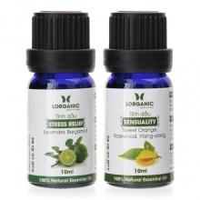Combo tinh dầu hợp hương Lorganic stress relife thư giãn và Sensual gợi cảm 10ml/chai