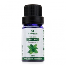 Tinh dầu bạc hà Lorganic peppermint natural essential oil 10ml