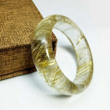 Vòng liền thạch anh tóc vàng 57mm đặc biệt cao cấp chuẩn 6A(-) Hadosa