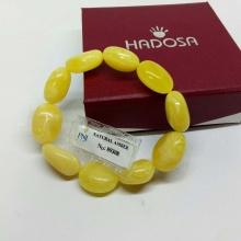 Vòng hổ phách Balan vàng cao cấp Hadosa - ABB399