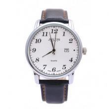 Đồng hồ nam Julius Hàn Quốc dây da JA-508 JU1200 (đen mặt trắng)