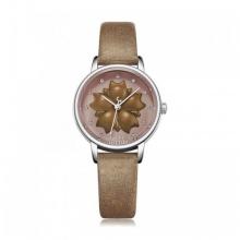 Đồng hồ nữ Julius Hàn Quốc dây da JA-1000A (nâu)