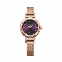 Đồng hồ nữ Julius Hàn Quốc dây thép JA-1030D (đồng mặt tím)