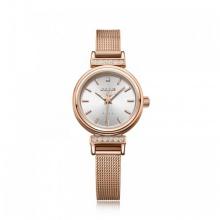 Đồng hồ nữ Julius Hàn Quốc dây thép JA-1030C (đồng mặt trắng)