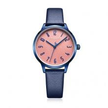 Đồng hồ nữ Julius Hàn Quốc dây da JA-987E JU1240 (xanh mặt hồng)