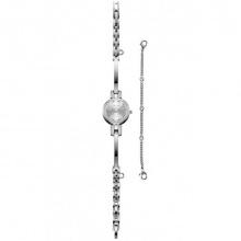 Đồng hồ nữ Julius Hàn Quốc dây kim loại JA-1033A (bạc)