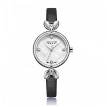 Đồng hồ nữ Julius Hàn Quốc dây da JA-975A JU1234 (đen mặt trắng)