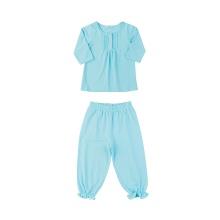 Set đồ bộ mặc nhà (tay dài) cotton cho bé gái - Tiniboo (Xanh da trời)