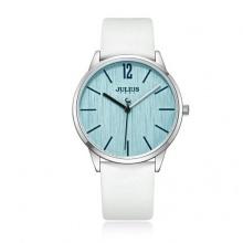 Đồng hồ nữ Julius Hàn Quốc dây da JA-1011A (trắng)