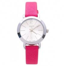 Đồng hồ nữ Julius Hàn Quốc dây da JA-732 JU970 (hồng đậm)
