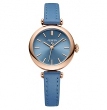 Đồng hồ nữ Julius Hàn Quốc dây da JA-1018 (xanh da trời)