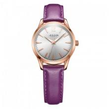 Đồng hồ nữ Julius Hàn Quốc dây da JA-983 JU1207 (tím)