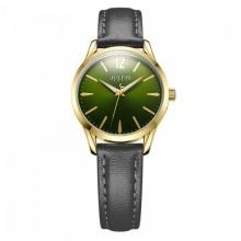 Đồng hồ nữ Julius Hàn Quốc dây da JA-983 JU1207 (đen mặt xanh)