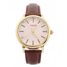 Đồng hồ nữ Julius Hàn Quốc dây da JA-888 JU1146 (nâu cafe)
