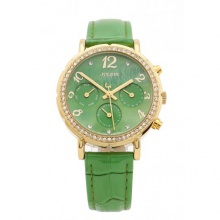 Đồng hồ nữ Julius Hàn Quốc dây da JA-828 JU1162 (xanh lá)