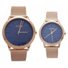 Đồng hồ cặp Julius Hàn Quốc dây thép JA-982D JU1231 (đồng mặt xanh)